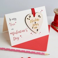 Personalised Couples Valentine's Love Token And Card