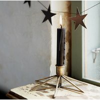 Brass Star Candle Stick