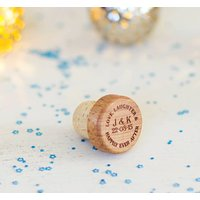 Personalised Natural Wine Bottle Stopper