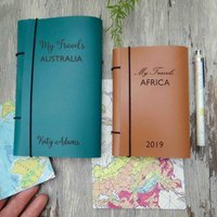 Personalised Leather Travel Diary