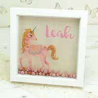 Personalised Magical Unicorn Box Framed Print