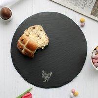 Chicken Round Slate Serving Board