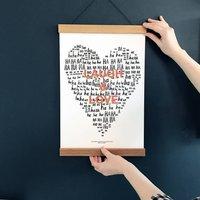 Personalised Laugh And Love Print