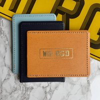 Personalised Number Plate Wallet, Taupe/White/Teal