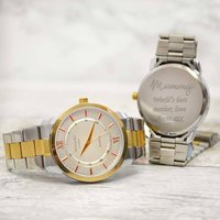 Personalised Gold Wrist Watch For Mum, Gold