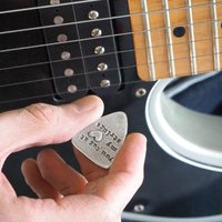 'You Tug At My Heart Strings' Guitar Plectrum