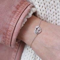 World Map Heart Bracelet