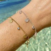 Lakshmi Bracelet Blue Topaz In Silver Or Gold, Silver