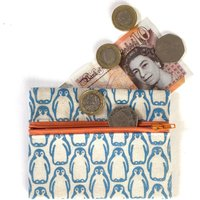 Penguin Coin Purse. Cotton Pouch. Handmade