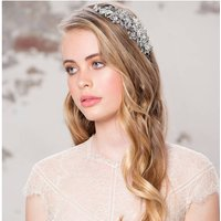 Carla Crystal And Pearl Silver Embellished Hairband