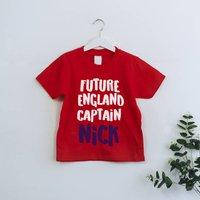 Personalised Future England Captain Kids Tee