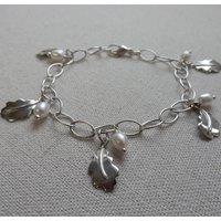 Oakleaf Charm Bracelet With Pearl Detail