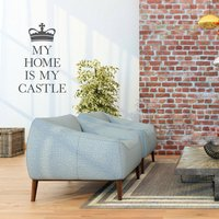 'My Home Is My Castle' Wall Sticker, Yellow Orange/Yellow/Orange