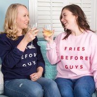 Fries Before Guys Friendship Sweatshirt, Black/Grey/Navy