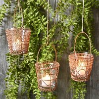 Hanging Copper Tealights