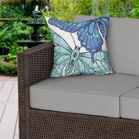 Blue Butterflies Water Resistant Outdoor Cushion