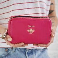 Leather Cosmetic Bag Queen Bee