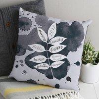 Graphic Family Tree Cushion