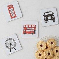 London Skyline Set Of Four Coasters