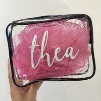 Personalised Name Clear Make Up Bag