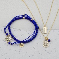 Gold Third Eye Chakra Jewellery Set, Gold
