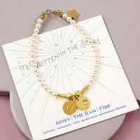 Personalised Aries Charm Bracelet