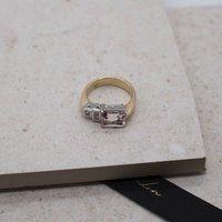 The Altari Morganite And Diamond 9ct Gold Ring, Gold
