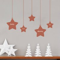 Personalised Christmas Family Tree Wall Stickers