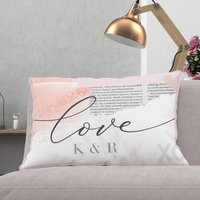 Personalised Valentines Gift Cushion 'Collage'