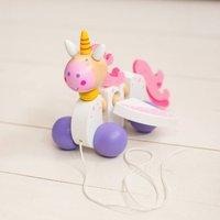 Wooden Pull Along Unicorn Toy
