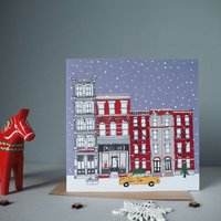 New York Christmas Cards Set Of Five