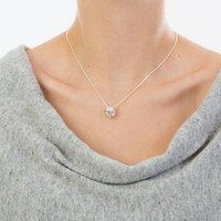 Friendship Knot Sterling Silver Necklace, Silver