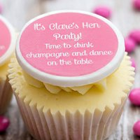 Hen Party 'Let's Drink Champagne' Cupcake Decorations, Pink/Lilac/Blue