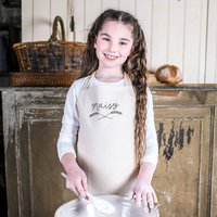 Personalised Wheat Sheaf Childrens Cotton Apron