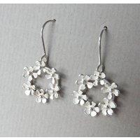 Bouquet Silver Drop Earrings, Silver