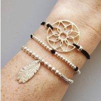 Set Of Three Dreamcatcher Bracelets