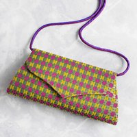 Goa Brocade Clutch Bag Purple Yellow