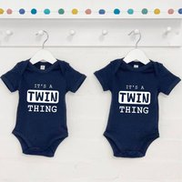 Its A Twin Thing Babygrow Set For Twins