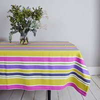 Pure Cotton Colourful Stripy Tablecloth