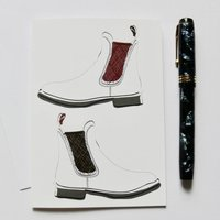 Horse Riding, Chelsea Boot Card