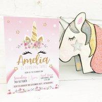 Unicorn Birthday Party Invitations Pack Of 20