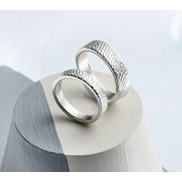 Sterling Silver Fingerprint Ring, Silver