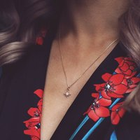 Layla. Gold Filled North Star Pendant Necklace, Gold