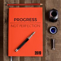 Progress Not Perfection, 2019 Diary, Leather Diary, Chocolate/Russet/Red
