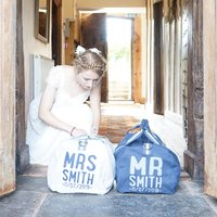 Personalised Mr And Mrs Honeymoon Holdall Bags