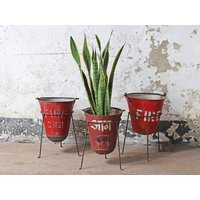 Upcycled Fire Bucket Planter