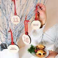 Personalised Wooden Activity Advent Calendar