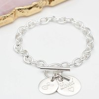 Personalised Sterling Silver Message Bracelet, Silver