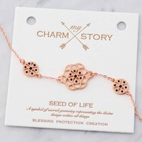 My Charm Story Seed Of Life Bracelet, Silver