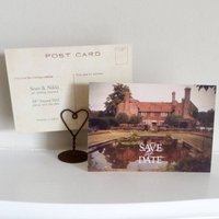 Save The Date Postcards With Your Wedding Venue